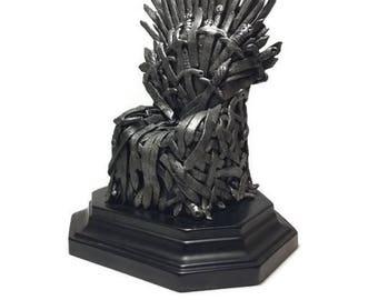 Iron Throne Sculpture, Game of Thrones Inspired Sculpture, Game of Thrones Miniature, GoT, Targaryen, Stark, Lannister, Baratheon, Geekery