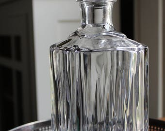 Vintage Antique Square Crystal Decanter with Square top