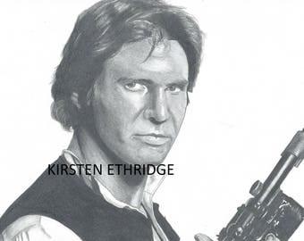 "Original Drawing - Han Solo 9""x12"""