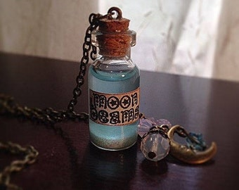 Moon Beams Glow-in-the-Dark Apothecary Bottle Necklace