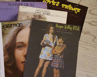 Vintage Sheet Music, 1960's -1970's Six Pieces