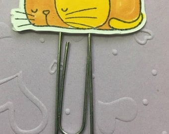 Cat clips - Planner Paper Clip - Altered Paper Clip - Bookmark - Planner Accessory - Planner Clip Set