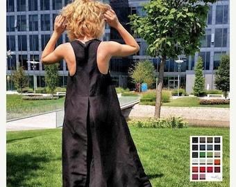SALE Gothic Wedding Dress, Linen Dress, Linen Maxi Dress, Linen Clothes, Black Linen Dress, Long Maxi Dress, Floor Dress, Black Gothic Dress