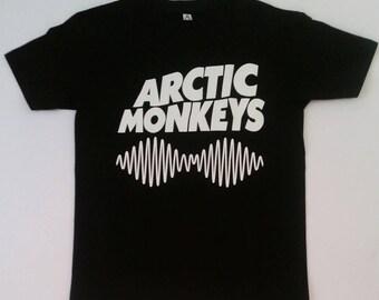 ARTIC MONKEYS - AM Sound Waves - Black Unisex Tshirt  S - 2XL