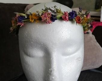 Festival dried flower crown