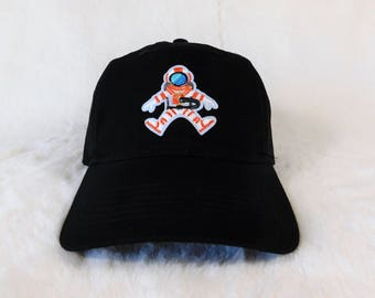 Astronaut Dad Hat, NASA Dad Hat, Astronaut Baseball Hat, Black Dad Hat With Astronaut Patch, Space Dad Hat, Dad Hats, Dad Cap, Space hat