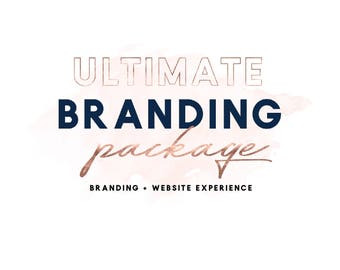 One of a Kind Branding Package, Custom Logo Design Custom Website Design OOAK Custom Business Branding Squarespace Shopify Wordpress Website