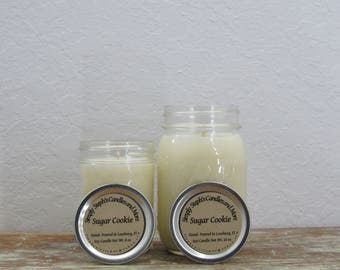 Soy Candle/ Sugar Cookie/ Mason Jar Candle/ Chrsitmas Scent