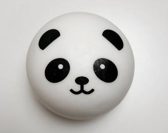 JUMBO SLOW RISING panda bun squishy free with banana pudding slime