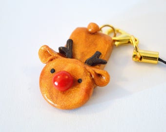 Rudolf Rudolph Polymer Clay Charm/Pendant/Necklace Cute Kawaii