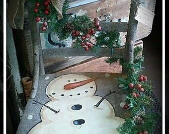 Kay's Primitive Designs Let it Snow Snowman Painting Pattern Packet