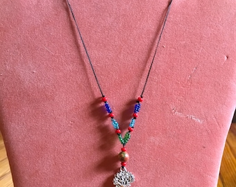 Tree of Life Multi-Color Beaded Necklace