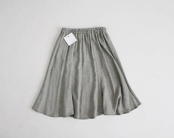 90s full skirt | micro houndstooth skirt | sporty skirt