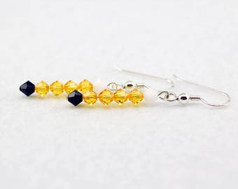 Jake the Dog Stick Earrings in Sterling Silver - Adventure Time Earrings, Jake Earrings, Jake Jewelry, Geek Prom, Fandoms in Swarovski