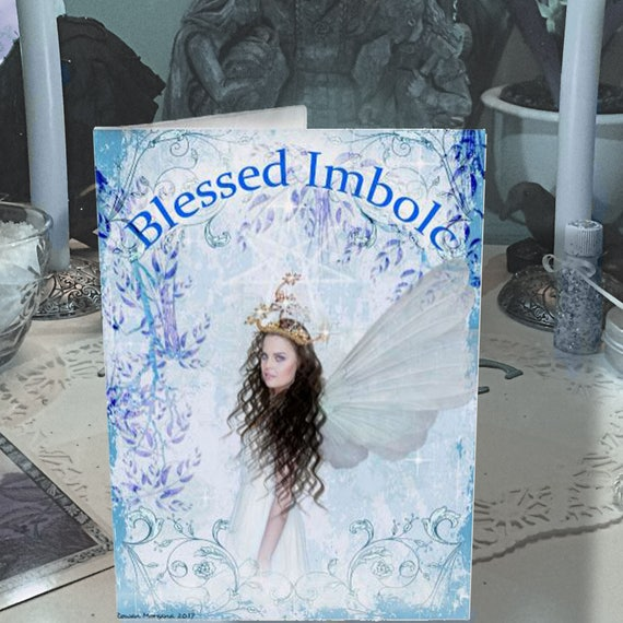 Printable Blessed Imbolc  Fairy Card