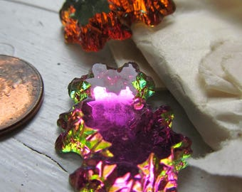 Vintage Art Glass Cabochon...Crazy Gorgeous! Shaped Like An Island