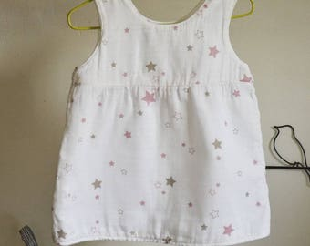 Tunic fabric reversible baby cloth diaper