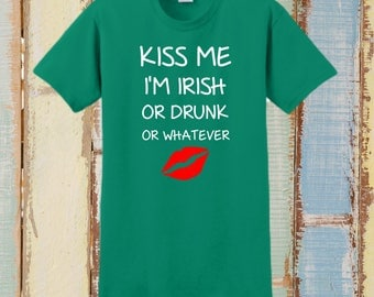 ST PATRICKS DAY, Custom T-Shirt,  St Pattys Day, Personalized T-Shirt, Saint Patrick, Irish Shirt, Irish Gift, Leprechaun, Kiss, Drinking