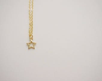 Celestial Jewelry Star Necklace Gold Star Necklace Back to School Jewelry Gift For Her Celstial Necklace Bridesmaid Jewelry Bridesmaid Gift