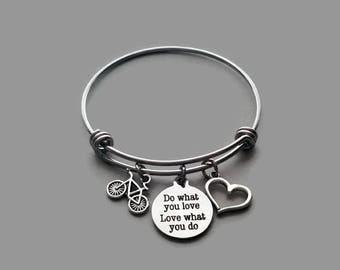 Bicycle Charm Bracelet, Bicycle Bracelet, Bicycle Jewelry, Biker Babe, Bike Charm, Bike Jewelry, Bike Bracelet, Biker Gift, Stainless Steel