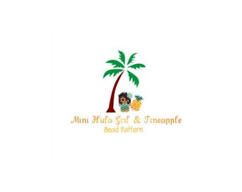 Small Hula Girl & Mini Pineapple Charm Patterns