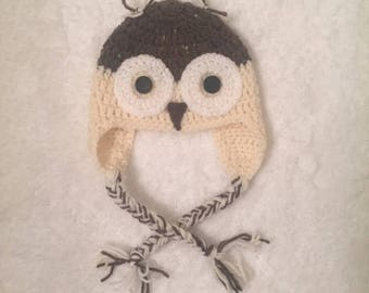 Baby Owl Crocheted Hat