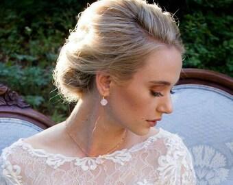 Rose Opal Drop Earrings