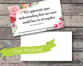 50 Cards, Reserved Seat, Seating Place Cards, plexus conference, plexus meeting, conference, meeting, convention, free shipping