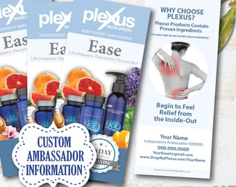 plexus ease brochure PERSONALIZED, plexus swag