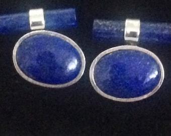 Lapis Lazuli  925 cuff links