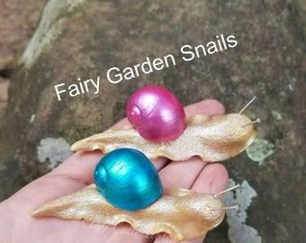 Sale! Fairy Garden Snail Set
