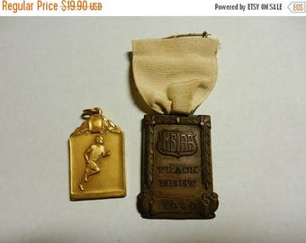 Summer Sale Two Vintage 1930s Sports Medals