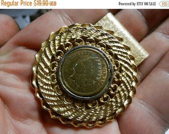 Summer Sale Vintage 1895 Indian Head Penny Money Clip