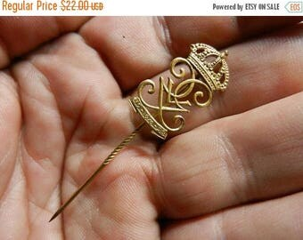 Easter Sale Vintage Sweden Swedish King Gustaf Monogram Stick Pin