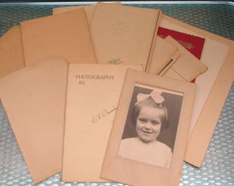 Large Lot of 20 Vintage British Black and White/Colour Photographs in Presentation Wallets~ 1950s - 1970s
