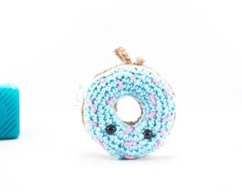 Crochet doughnut, car mirror hanger, doughnut car, crochet cake, car buddy, doughnut decoration, car accessory, amigurumi, stuffed doughnut