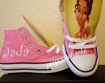 Princess Tiana Custom Chucks
