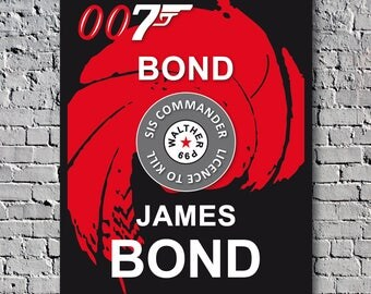 James Bond 007 Vintage Poster Cinema Decoration
