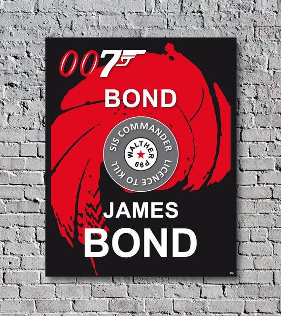 James bond 007 vintage poster cinema decoration for Decoration 007