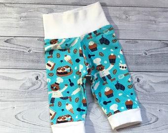 Baby Boy Pants, Baby Girl Pants, 0-3 months Pants, Party Baby Pants, Baking Baby Pants, Brezel Baby Pants, Cupcake Baby Pants, Baby Shower