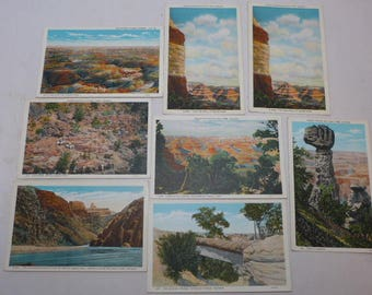 Vintage Grand Canyon Postcards - Set of 8 - Western Postcards - Grand Canyon