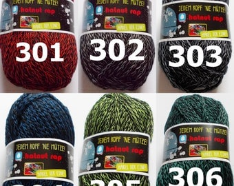 "50g wool ""hatnut rap"" (5,00Euro/100g), super soft wool for hats and accessories"