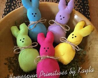 Primitive Spring Easter Peeps, Peeps, Spring Decor, Easter Decor, Bowl Fillers