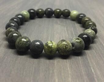 Russian Serpentine Bracelet - Gemstone Stretch Bracelet