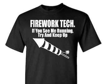 Fireworks Shirt - 4th of July Shirt - Firework Tech