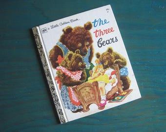 The Three Bears – Vintage Children's Little Golden Book – 47 – Feodor Rojankovsky