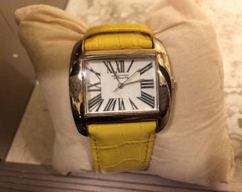 Talbots Ladies Watch with Yellow Leather Band