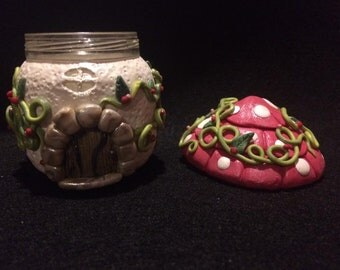 Fairy House Stash Jar