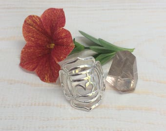 925 Sterling Silver Root Chakra Ring