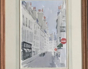 Barbara Dorf Watercolour Of Rue Jacob In Paris - A Superb Watercolour